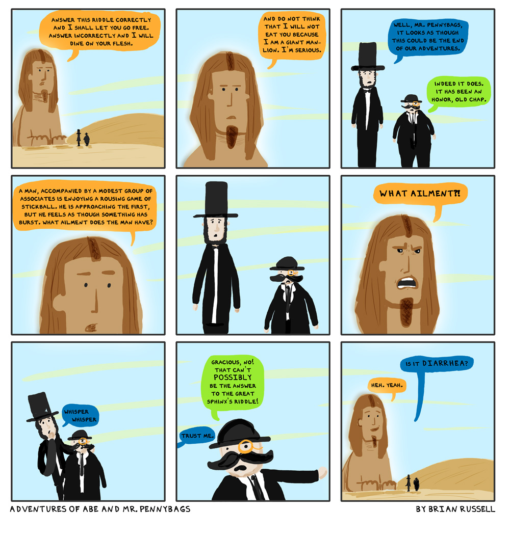 uudd 2011 08 10 guest comic The Adventures of Abe and Mr. Pennybags